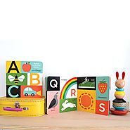 Get this ABC My First Touch & Feel Alphabet Book to learn alphabets