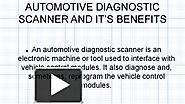 Diagnostic Scan Tool & Benefits
