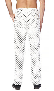 Men's Pants - Polka Dot - Flat Front Slacks
