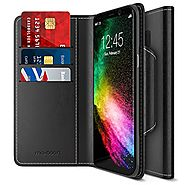 Maxboost Galaxy S8 Plus Wallet Case [Folio Style] [Stand Feature] Samsung Galaxy S8+ / s8 plus Card Case (2017) [Blac...