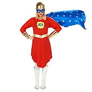 Pop Art Comic Super Woman Adult Maternity Costume - Official Adult Costumes