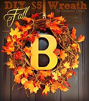 $5 DIY Fall Wreath #autumn #pumpkin #leaves #fall #dollarcrafts - The Mommy Times
