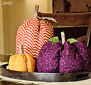Easy Fabric Pumpkins - Scattered Thoughts of a Crafty Mom by Jamie Sanders