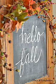 Repurposed Fall Décor {Hospitality Filled Homes} - Lilacs and Longhorns