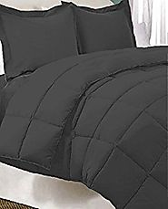 5-Piece Bed-In-A-Bag - Twin XL Extra Long (Comforter Set: Grey, Sheet Set: Grey) …