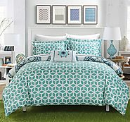 Chic Home Barcelona 8 Piece Reversible Comforter Set Super Soft Microfiber Large Printed Medallion Design with Geomet...