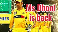 Will Dhoni returns to CSK team in IPL 2018? - ipl-fixtures.com