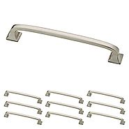 Franklin Brass P29614K-SN-B Satin Nickel 5-Inch Lombard Kitchen or Furniture Cabinet Hardware Drawer Handle Pull, 10 ...