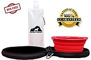 SALE! Northern Outback SUPERSIZED Travel Pet Bowl and Carrier - 1 Collapsible 5 CUP Silicone Bowl with BONUS Water Bo...