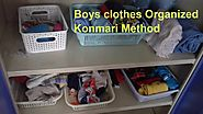 Boys clothes organisation konmari method