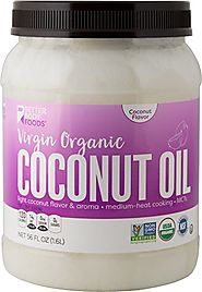 BetterBody Foods Virgin Organic Coconut Oil (Cold-Pressed and Unrefined)