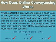 How Does Online Conveyancing Works