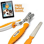 Professional Dog Nail Clippers - Ergonomic Handle, Angled Head and Quick Sensor Guard - Precision Trimming From Chihu...