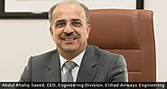 Abdul Khaliq Saeed announced as CEO of Etihad Airways Engineering