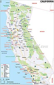 Map of California Cities - Maps Of World