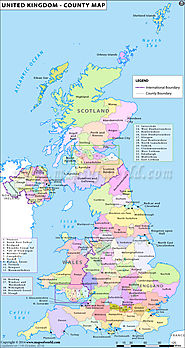 Download UK Counties Map for free use