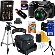 Nikon COOLPIX L340 Digital Camera with 28x Zoom & Full HD Video (Black) International Version + 4 AA Batteries &a...
