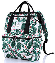 HotStyle DISA Tropical Convertible Handbag Backpack Purse for Laptop Up To 14-inch - White