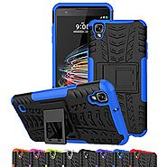 LG Tribute HD Case, LG X Style Case, LG Volt 3 Case, Ueokeird Hybrid Dual Layer Armor Protective Phone Case Cover wit...