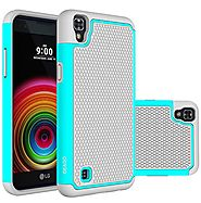 LG X Power Case, OEAGO LG X Power Case [Shockproof] [Impact Protection] Hybrid Dual Layer Defender Protective Case Co...