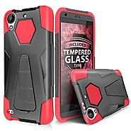 LG X Power Case, LG K6P Case With TJS Tempered Glass Screen Protector, Dual Layer Shockproof Impact Armor Resist Rugg...