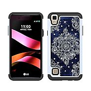 LG Tribute HD Case, LG X Style Case, LG Volt 3 Case, MagicSky [Shock Absorption] Studded Rhinestone Bling Hybrid Dual...