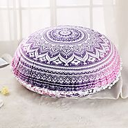 Famous Jaipur handmade work exclusively designed POM POM Cushion Cover