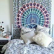 Add a flair to guest room with wall tapestry
