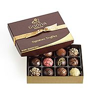 Godiva Chocolatier Signature Chocolate Truffles 12 Piece