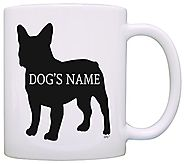 Personalized Dog Owner Gift French Bulldog Add Dogs Name Pet Dog Lover Gift Coffee Mug Tea Cup White