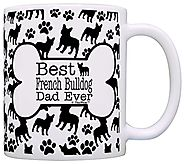 Dog Owner Gifts Best French Bulldog Dad Ever Paw Pattern Gift Coffee Mug Tea Cup Bone Pattern