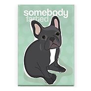 Pop Doggie Somebody Farted Black French Bulldog Fridge Magnet