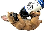 Canine Pedigree French Bulldog Frenchies Wine Oil Bottle Holder Figurine Kitchen