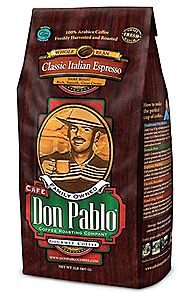 Cafe Don Pablo Classic Italian Espresso - Dark Roast Whole Bean Coffee