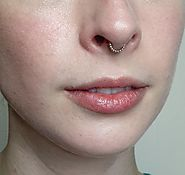 Gold Beaded Septum Ring - nickel free