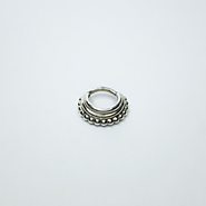 Stacked Septum Ring - layered septum ring, triple septum, tribal, ethnic septum nickel free silver