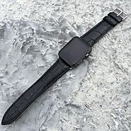 Iwatch Bands | Black Croc-Embossed Apple Watch Bands
