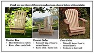 Classic Cedar Adirondack Chairs - Folding Wood Adirondack Chairs For Sale