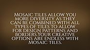 Mosaic Tiles - High Quality Installation Services In Ottawa