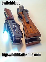 SWITCHBLADE - 10 INCH RIFLE STYLE SWITCHBLADE AUTOMATIC KNIFE WITH BUILT IN LED FLASHLIGHT.