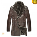 Mens Sheepskin Fur Lined Leather Coat CW868829