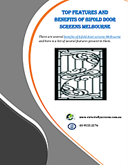 Top Features And Benefits Of Bifold Door Screens Melbourne