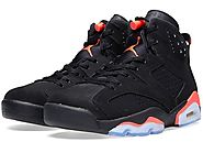 "Men's Nike Air Jordan 6 Retro ""Infrared"" Basketball Shoes"