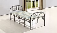 Container Furniture Direct Diane Collection Mid-Century Metal Folding Guest Bed