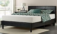 Zinus Faux Leather Upholstered Platform Bed