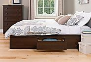 Prepac Espresso Queen Mate's Platform Storage Bed