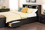 Prepac Black Full Mate's Platform Storage Bed