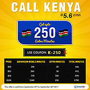 Make cheap international calls to Kenya With Amantel. No need of physical calling card and phone cards.