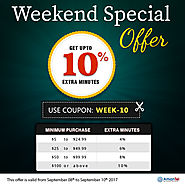 Welcome to special weekend offers with Amantel wonderful deals on all international calls