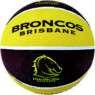 Broncos NRL Supporter Basketball - Brisbane Queensland, Australia
